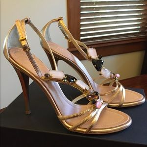 Giuseppe Zanotti metallic gold sandals